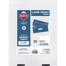 MAC ML3000B Maco Multipurpose Self-Adhesive Mailing Labels MACML3000B