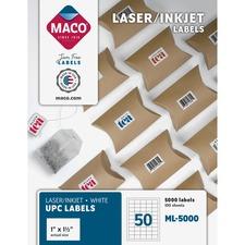MAC ML5000 Maco White UPC Labels MACML5000