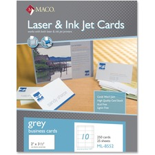 MAC ML8552 Maco Laser / Inkjet Business Cards MACML8552