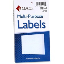 MAC MS2448 Maco Multi-Purpose Removable Adhesive Labels MACMS2448