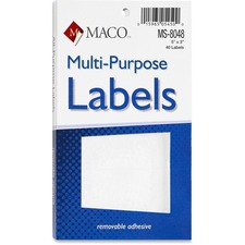 MAC MS8048 Maco Multi-Purpose Removable Adhesive Labels MACMS8048