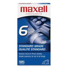 """Maxell Standard VHS Videocassette - VHS - 0.05\"""" - 120Minute - SP, 360Minute - EP"""