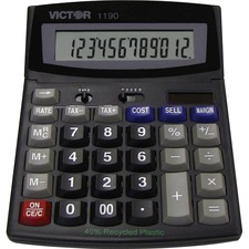 "Victor Technology 10 of VICTOR TECHNOLOGY 12-Digit Desktop Calc,w/ Cost/Margin,6""x7-3/4""x1-1/4"",GY at Sears.com"