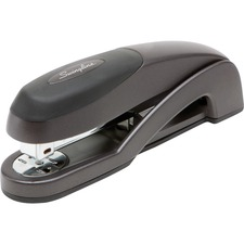 "Swingline® Optima® Desk Stapler, 25 Sheets, Graphite Black - 25 Sheets Capacity - 210 Staple Capacity - Full Strip - 1/4"" Staple Size - Graphite Black"