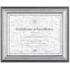 DAX N15783NT Burns Grp. Silver Frame Certificate Display DAXN15783NT