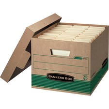 FEL 12770 Bankers Box STOR/FILE Medium-Duty 100% Recycled Storage Boxes FEL12770