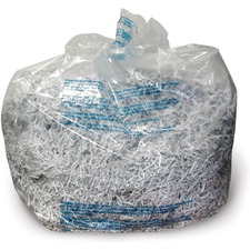 GBC 6-8 Gallon Shredder Bags - 8 gal - 100/Box - Plastic - Clear