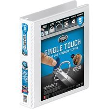"Wilson Jones® Ultra Duty D-Ring View Binder with Extra Durable Hinge, 1 1/2"", White - 1 1/2"" Binder Capacity - Letter - 8 1/2"" x 11"" Sheet Size - 400 Sheet Capacity - D-Ring Fastener(s) - 4 Internal Pocket(s) - Polypropylene - White - 1 / Each"