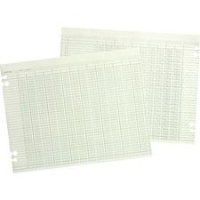 WLJ G1016 Acco/Wilson Jones Prepunched Ledger Paper Sheets WLJG1016