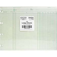 WLJ GN2D Acco/Wilson Jones Prepunched Ledger Paper Sheets WLJGN2D