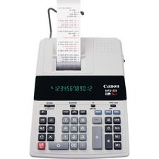"""Canon MP21DX Color Printing Calculator - 3.5 - Heavy Duty, Paper Holder, Easy-to-read Display, Round Down, Round Off, Round Up, Sign Change, Item Count, 4-Key Memory, Decimal Point Selector Switch - AC Supply Powered - 3.7"""" x 9"""" x 12.2"""" - White - 1 Each"""