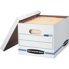 """Bankers Box Light Duty Storage/File Box - 450lb - Letter, Legal - Internal Dimension 10\"""" Height x 12\"""" Width x 15\"""" Depth x - External Dimensions 10.5\"""" Height x 12.5\"""" Width x 16.25\"""" Depth - White"""
