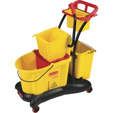 RCP778000YW - Rubbermaid WaveBrake Mopping Trolley Side Press Mopping System