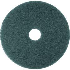"3M 8413 Cleaner Pad Mop - 20\"" Diameter - 5 / Carton - Green, Blue"