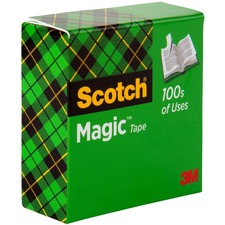 MMM 81011296 3M Scotch Invisible Magic Tape Boxed Refill Roll MMM81011296