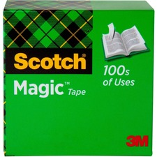 MMM 810121296 3M Scotch Invisible Magic Tape Boxed Refill Roll MMM810121296