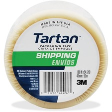 "Tartan General Purpose Packaging Tape - 1.88"" Width x 54.60 yd Length - 3"" Core - Synthetic Rubber Resin - 1.90 mil - Rubber Resin Backing - 1 / Roll - Clear"