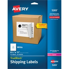 AVE 5265 Avery Easy Peel White Shipping Labels AVE5265