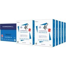 HAM 86702 Hammermill 3-hole Great White 30 Copy Paper HAM86702