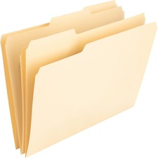 NAT 00836 Nature Saver 1/3 Cut Manila File Folders NAT00836