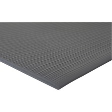 "Genuine Joe Air Step Anti-Fatigue Mat - Warehouse - 36"" Length x 24"" Width x 0.38"" Thickness - Vinyl - Black"