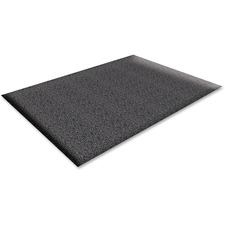 "Genuine Joe Soft Step Vinyl Anti-Fatigue Mats - Warehouse - 36"" Length x 24"" Width x 0.38"" Thickness - Vinyl - Black"