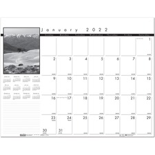 HOD 122 Doolittle Black and White Calendar Desk Pads HOD122