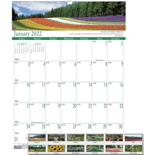 HOD 303 Doolittle Earthscapes Gardens Wall Calendar HOD303