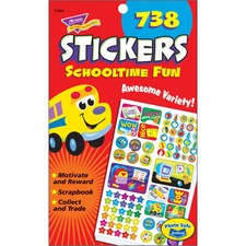 TEP T5008 Trend Schooltime Fun Sticker Pads  TEPT5008