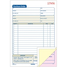 ABF TC5831 Adams 3-Part Carbonless Purchase Order Forms ABFTC5831