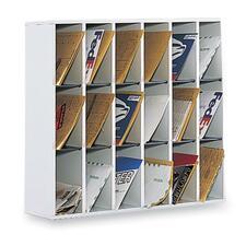 SAF 7765GR Safco Laminate Wood Mail Sorter SAF7765GR