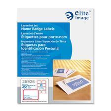 ELI 26926 Elite Image Laser/Inkjet Name Badge Labels ELI26926