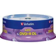 Verbatim 8x DVD+R DL Media, 15 Pack