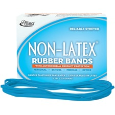 ALL 42179 Alliance Cyan Non-Ltx Antimicrobial Rubber Bands  ALL42179