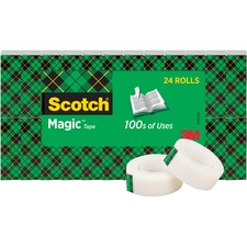 MMM 810K24 3M Scotch Invisible Magic Tape Boxed Refill Roll MMM810K24