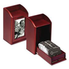 ROL 1734243 Rolodex Wood Tones Photo Business Card Files ROL1734243