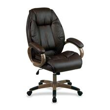 OSP DHL3062G1 Office Star Exec. Top Grain Lthr High-back Chair OSPDHL3062G1