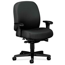 HON 3528NT19T Hon Mid-back Task Chairs w/ Adjustable Arms HON3528NT19T