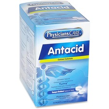 PhysiciansCare Antacid Medication Tablets - For Heartburn, Indigestion - 50 / Box