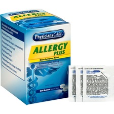 PhysiciansCare Allergy Plus Medication - For Pain, Allergy - 50 / Box