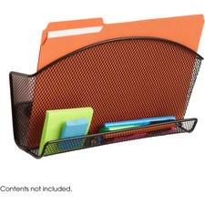SAF 4180BL Safco Onyx Accessory Orgnzr Magnetic File Pocket SAF4180BL