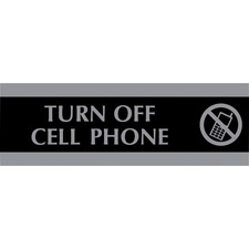 USS 4759 U.S. Stamp & Sign Century Turn Off Cell Phone Sign USS4759