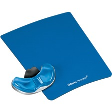 FEL 9180601 Fellowes Gel Palm Support w/ Mouse Pad FEL9180601
