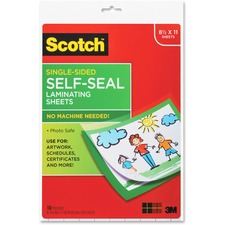 MMM LS854SS10 3M Scotch Self-Seal Laminating Pouches MMMLS854SS10