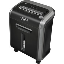 "Fellowes Powershred® 79Ci 100% Jam Proof Cross-Cut Shredder - Non-continuous Shredder - Cross Cut - 16 Per Pass - for shredding Staples, Credit Card, CD, DVD, Paper Clip, Junk Mail, Paper - 0.156"" x 1.500"" Shred Size - P-4 - 10 ft/min - 9"" Throat - 20 Minute Run Time - 30 Minute Cool Down Time - 6 gal Wastebin Capacity - Dark Silver, Black"