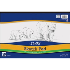 "Pacon Case of 20 Pacon Sketch Pad, Medium Weight, Acid-free, 18""x12"", 50 Sheets at Sears.com"