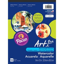"UCreate Watercolor Pad - 12 Sheets - 9"" x 12"" - White Paper - Acid-free - Recycled - 12 / Pad"