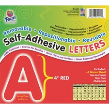 PAC 51621 Pacon Self-Adhesive Removable Letters PAC51621