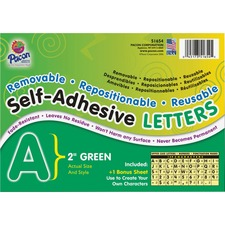 PAC 51654 Pacon Colored Self-Adhesive Removable Letters PAC51654
