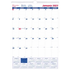 RED C171102 Rediform 1PPM Lined Block Monthly Wall Calendar REDC171102